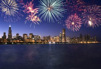 Chicago's fireworks light up the sky over Lake Michigan. Navy Pier is the place to be for the celebration, with the fireworks set against the city's skyline. For more information click here. (Photo Credit: Thinkstock)